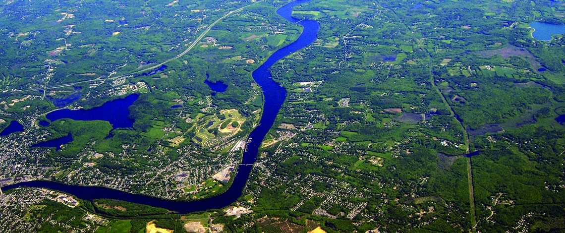 Merrimack River aerial photo
