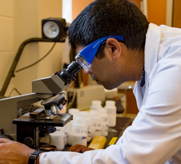 UNH post-doctoral associate Amit Tripathi