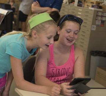 girls at computing camp