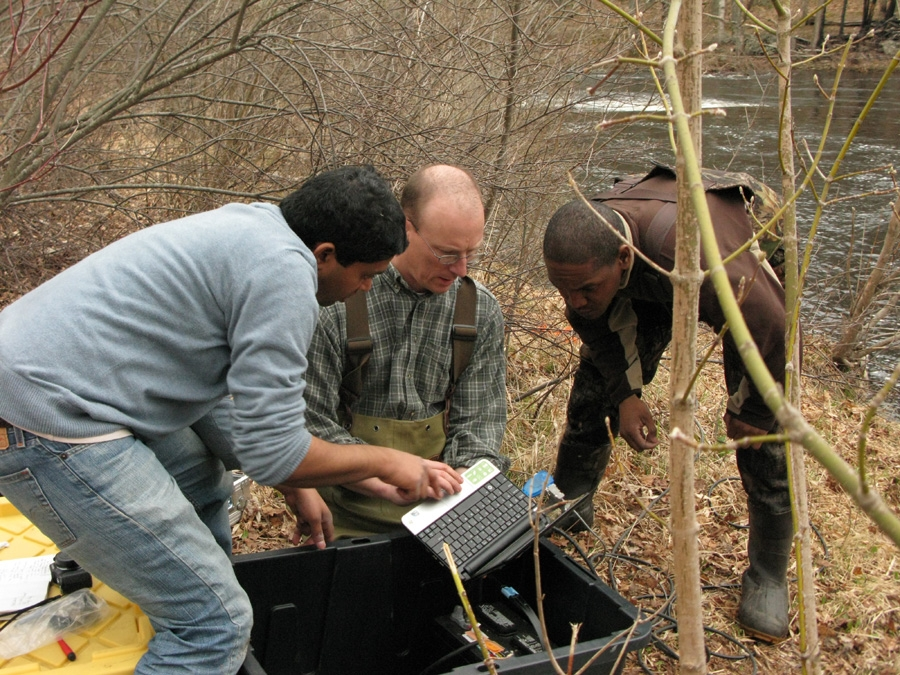 group of researchers outdoors