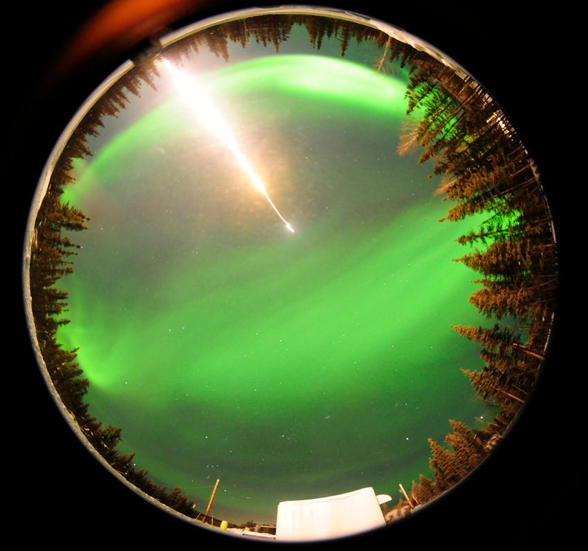 360 degree view of night sky