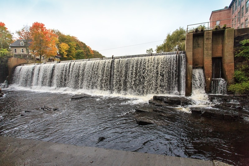 view of dam from below